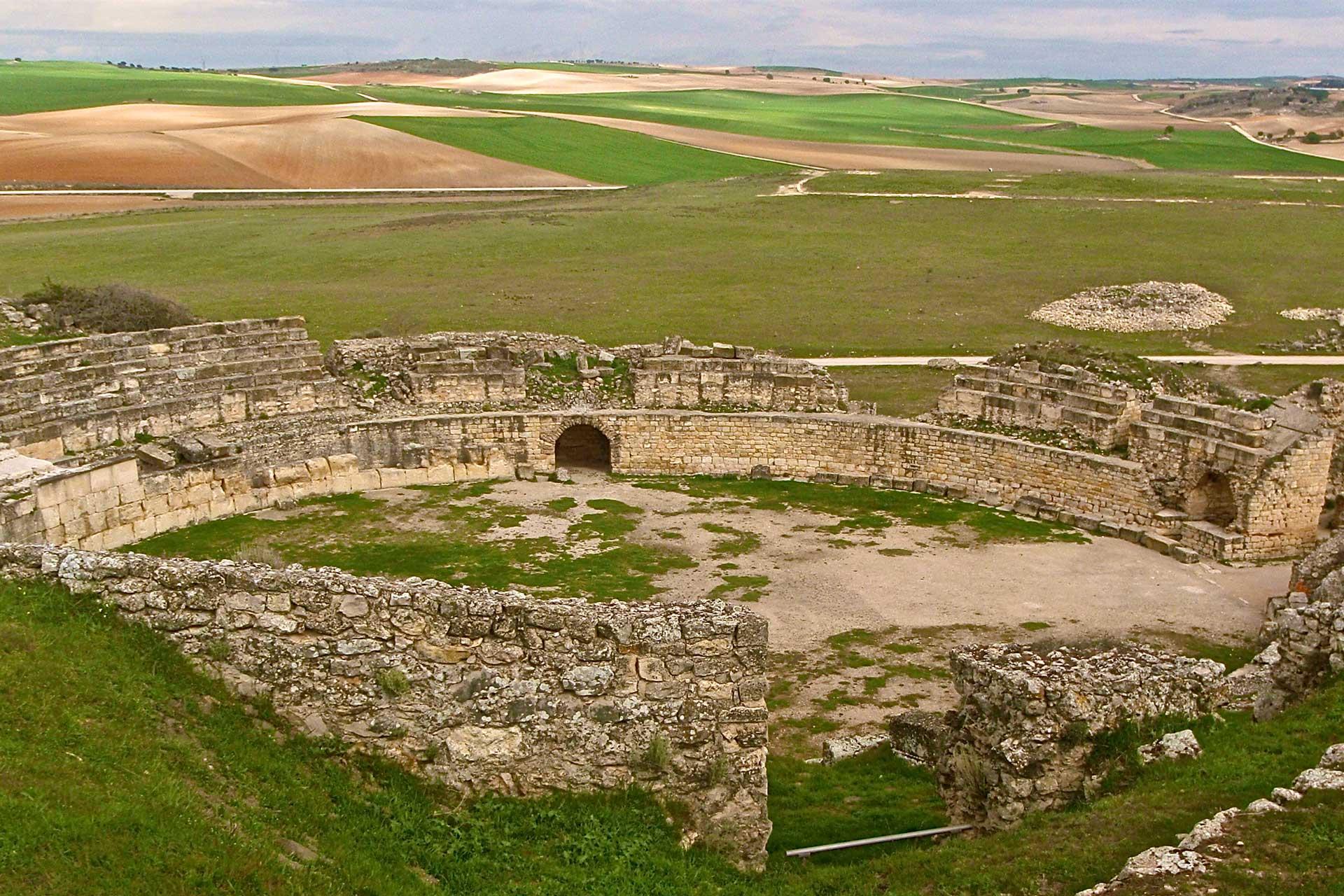 Anfiteatro romano del Parque Arqueológico de Segóbriga en la localidad de Saelices, Cuenca